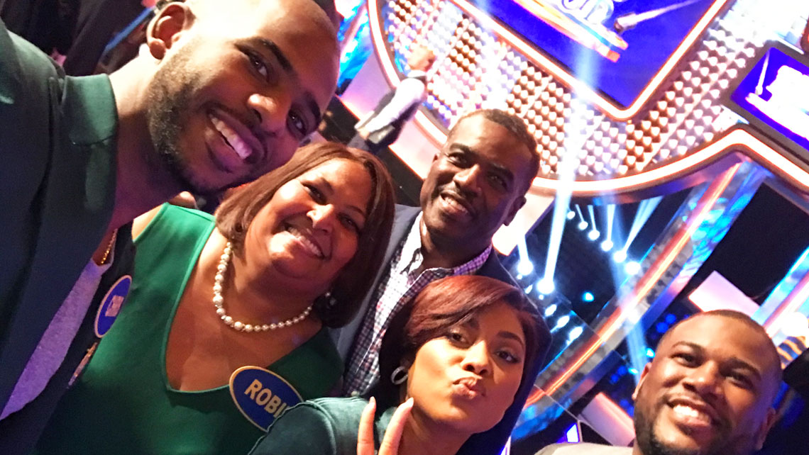 The Paul Family on Celebrity Family Feud