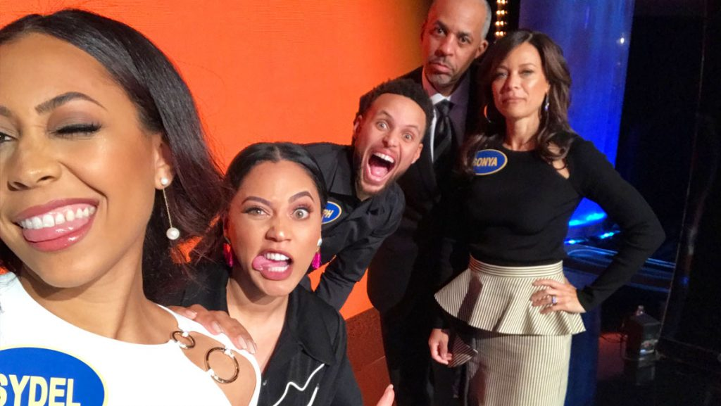The Curry Family on Celebrity Family Feud