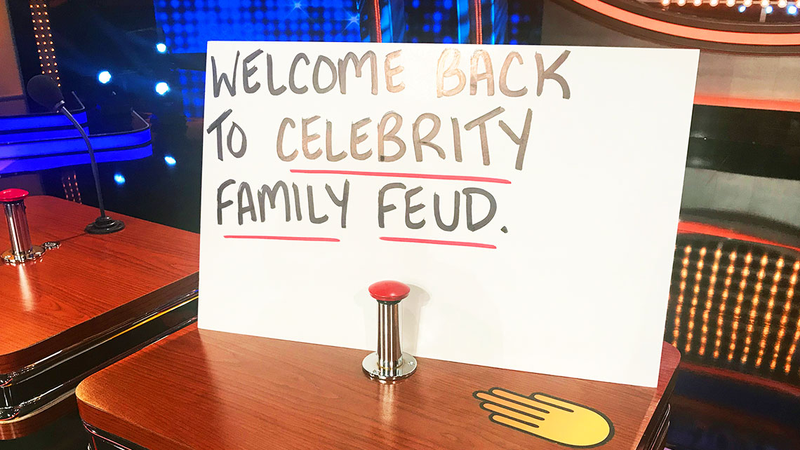 Celebrity Family Feud Season 4 Announcement Board
