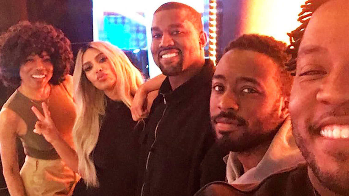 Celebrity Family Feud Kardashian West Family Selfie