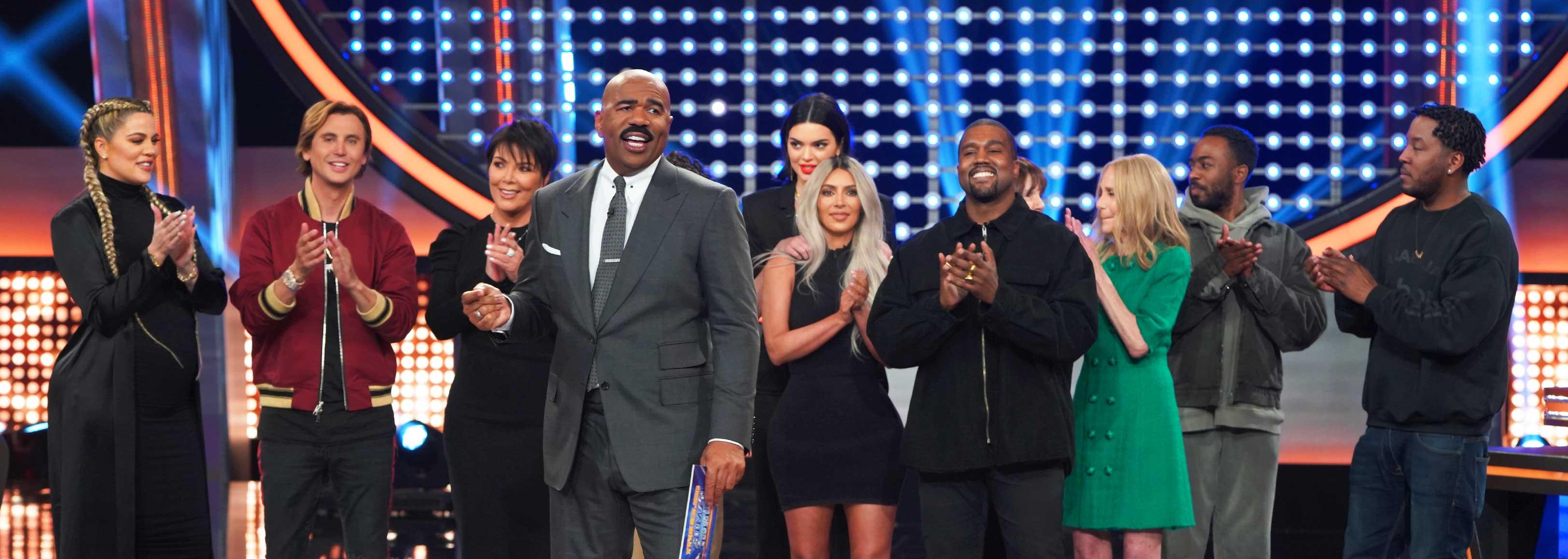 Kim Kardashian and Kayne West on Celebrity Family Feud