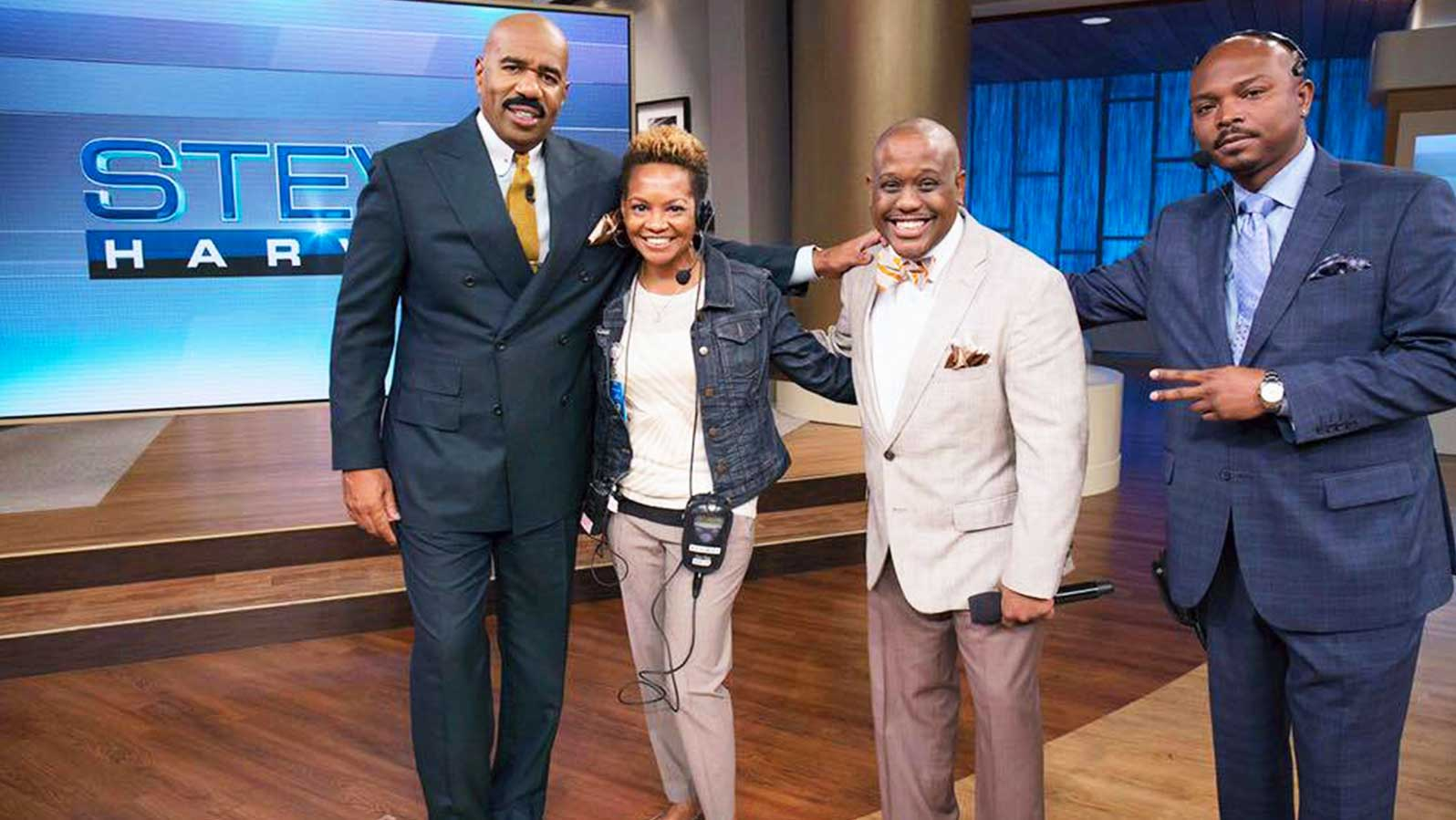 "Steve Harvey, Tanya Person-Irby, Rubin Ervin and Terelle ""E.T"" Johnson"